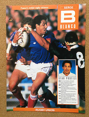 WINNERS Champions Sport picture Rugby France SERGE BLANCO