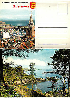 FIVE VIEWS OF GUERNSEY Channel Islands Letter Card unposted