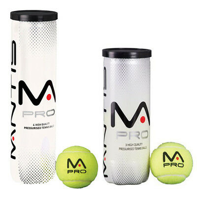 Mantis Pro Tennis Balls  Available In 3 Or 4 Ball Tubes