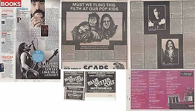 MOTORHEAD : CUTTINGS COLLECTION -adverts interview-