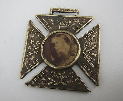 Old Queen Victoria 'God Save The Queen' Brass Medal