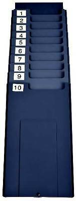 10 pocket time card rack, wall mounted time card holder