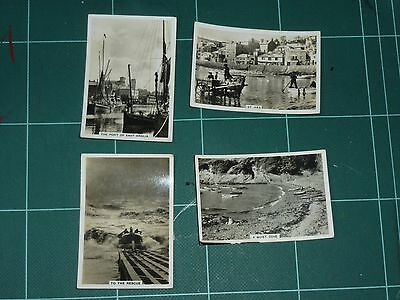 Coastwise, Small Selection Of Senior Service Cigarette Cards