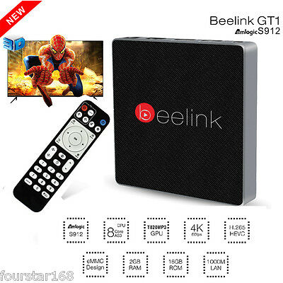 Beelink GT1 Android 6.0 S912 Octa Core 2GB/16GB 1000M Smart Media Player TV BOX