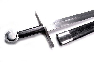 Hand Forged High Carbon Basic Templar Sword with Scabbard