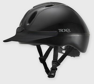 New Troxel Spirit, Vented Riding hat,Gloss Black Large (59-62cm)