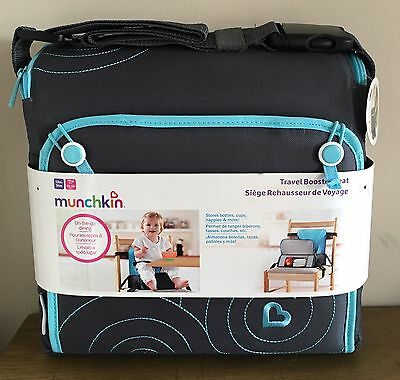 Munchkin Baby Booster Seat Portable Highchair Travel Feeding Storage Compact NEW