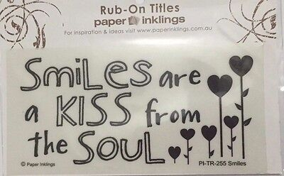 Paper Inklings Title Rub-Ons: Smiles **BRAND NEW**