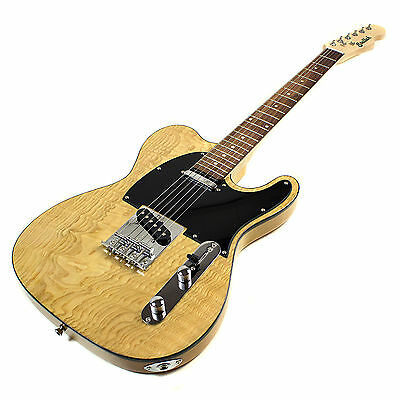 Electric Guitar Tele Style with Burl Ash Top