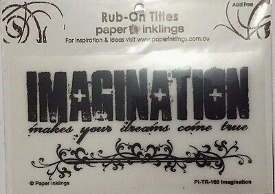 Paper Inklings Title Rub-Ons: Imagination Black **BRAND NEW**