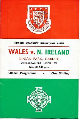 WALES v Northern Ireland (Home International) 1966