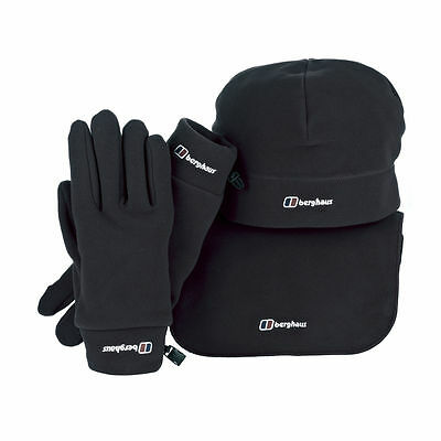 Berghaus 3 Pack Hat Scarf And Gloves Set Black Code 34378