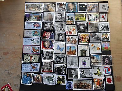 g.b.modern used commorative stamps  on & off  paper  lot 1