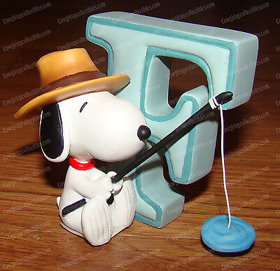 Letter F (Peanuts Alphabet by Wesland, 8776) Snoopy FISHING