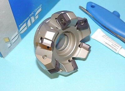 "ISCAR HELIDO 3"" Indexable 45° Face Mill w/ Inserts (S845 F45SX D3.0-6-1.0-R16)"