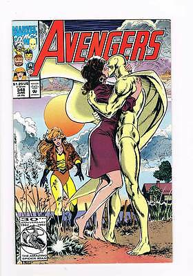Avengers # 348 Familial Connections ! grade 8.5 scarce book !!