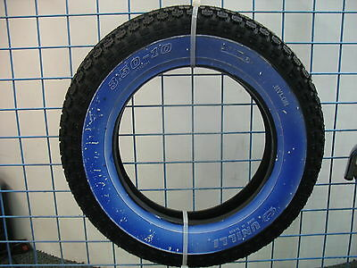 "350 x 10"" WHITE WALL SCOOTER TYRE LML VESPA etc UNILLI NEW BLUE PROTECTIVE COAT"