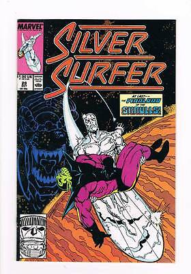 Silver Surfer # 28 Vol 2  Neanderthals ! grade 8.5 scarce book !!