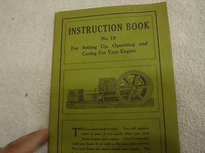 Hit & Miss engine Instruction Booklet Reprint