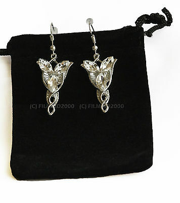 LOTR Lord Of The Rings Hobbit Arwen Silber EVENSTAR Ohrringe + Geschenktüte