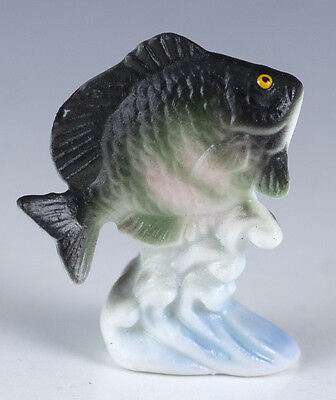 Vintage Miniature Bone China Rock Bass Fish Figurine Matte Finish Made In Japan
