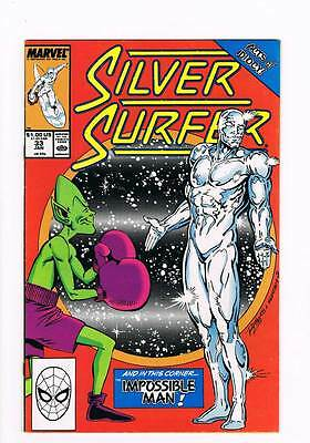 Silver Surfer # 33 Vol 2  Nothing is Impossible Man ! grade 8.5 scarce book !!