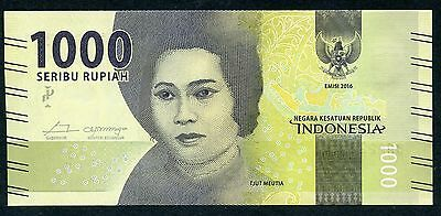 INDONESIA 1,000 1000 Rupiah 2016 P-NEW UNC uncirculated banknote