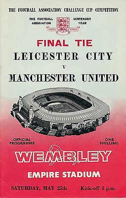 FA CUP FINAL PROGRAMME 1963: Man Utd v Leicester City