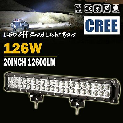 """20""""inch 126W Cree Led Light Bar Spot Flood Offroad 4Wd Truck Tractor Atv Suv 22"""""""