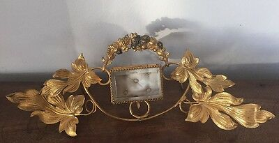 Rare Antique French Ormolu Gilt Wedding Ring Casket Jewellery Box
