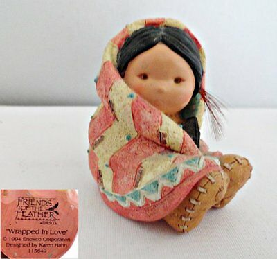 Enesco Friends of the Feather Wrapped in Love Figurine