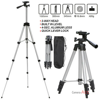 Digital Camera Camcorder Adjustable Tripod Stand + Carry case for Sony Canon UK