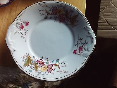 2 Hand Painted c19th Cake Plates 25 cm wide