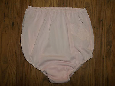 Vintage Original House of Fraser Stretchy Nylon Lacy Full Bum Pantie Knickers L