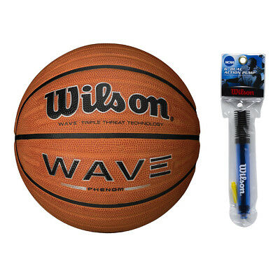"Wilson 29.5"" Official Size Wave Phenom Basketball w/ NCAA 6'' Inflation Pump"