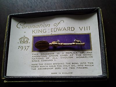 Coronation of King Edward V111 1937 Souvenir replica of the Anointing Spoon