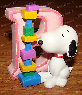 Letter B (Peanuts Alphabet by Wesland, 8572) Snoopy Playing with BLOCKS