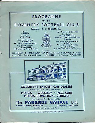 RUGBY UNION: Coventry v Rugby (12.04) 1948