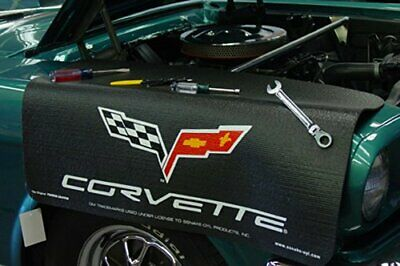 Chevrolet Corvette C6 Black Non Slip Tool Grip Fender Cover Officially Licensed