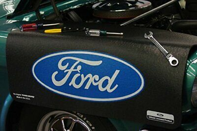 Ford Oval Logo Black Non Slip Tool Grip Fender Cover Officially Licensed