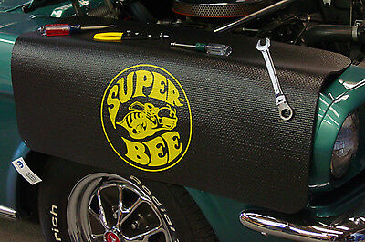 Dodge Super Bee Black Non Slip Tool Grip Fender Cover Officially Licensed
