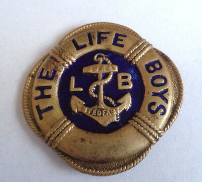 The Life Boys Old Brass Cap Badge