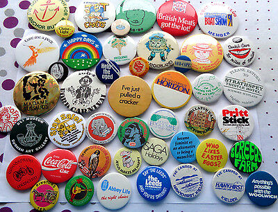 COLLECTION MIXED TIN BUTTON  LAPEL BADGE some old