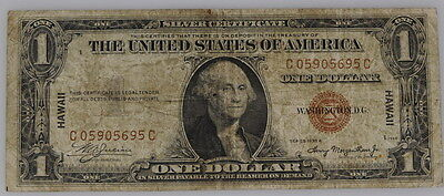 1935 A US Hawaii Brown Seal  Silver Certificate One Dollar $1 Note