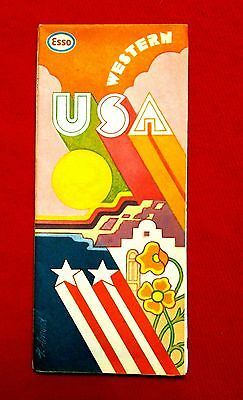 1973 Esso Oil Map of Western United States meac10