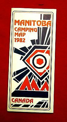 1982 Manitoba Camping Map Government Issue meac10