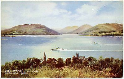 EARLY POSTCARD . LOCH STRIVEN . c1934