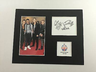 Limited Edition JLS Signed Mount Display Music  AUTOGRAPH