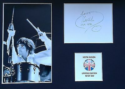 Limited Edition Keith Moon The Who Music Signed Mount Display AUTOGRAPH