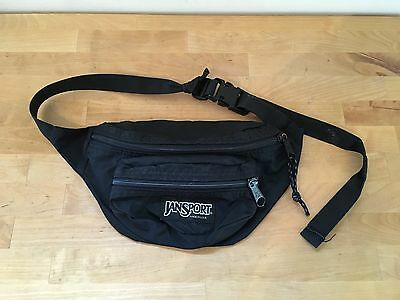 Jansport BLACK Retro Fanny Pack Waist Bag - Made in USA